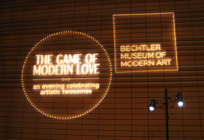 Bechtler Museum Gala outdoor light projections