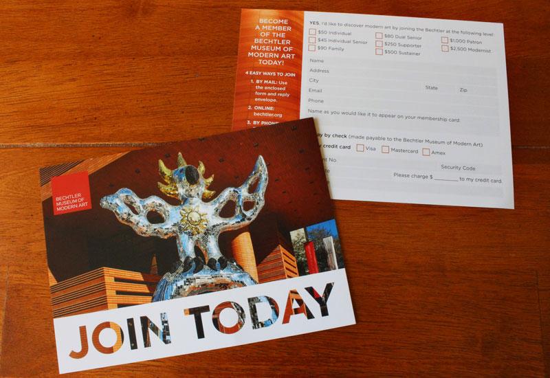 Bechtler Membership Appeal RSVP card