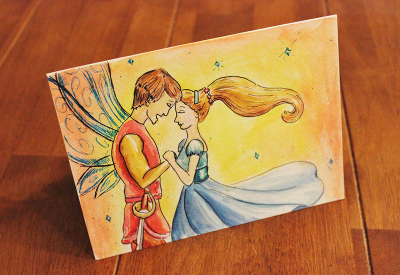 Thumbelina illustration birthday card