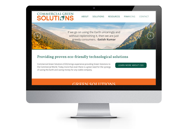 Commercial Green Solutions desktop website