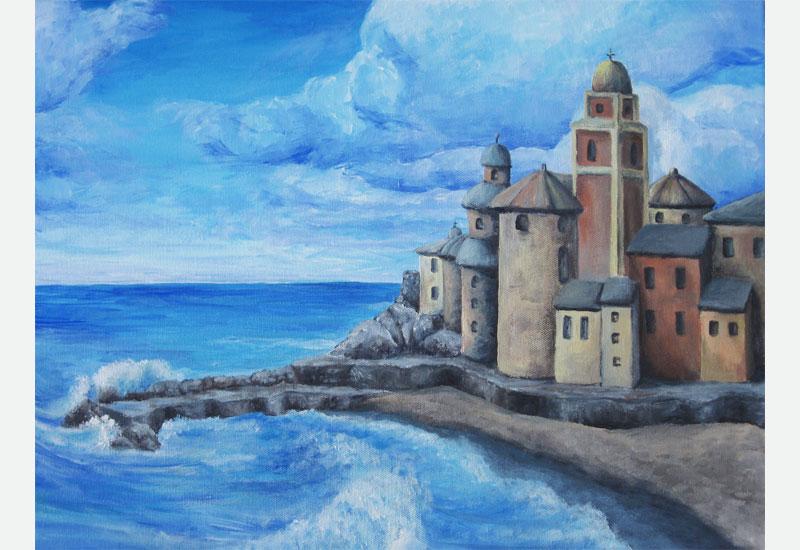 Camogli, Italy painting