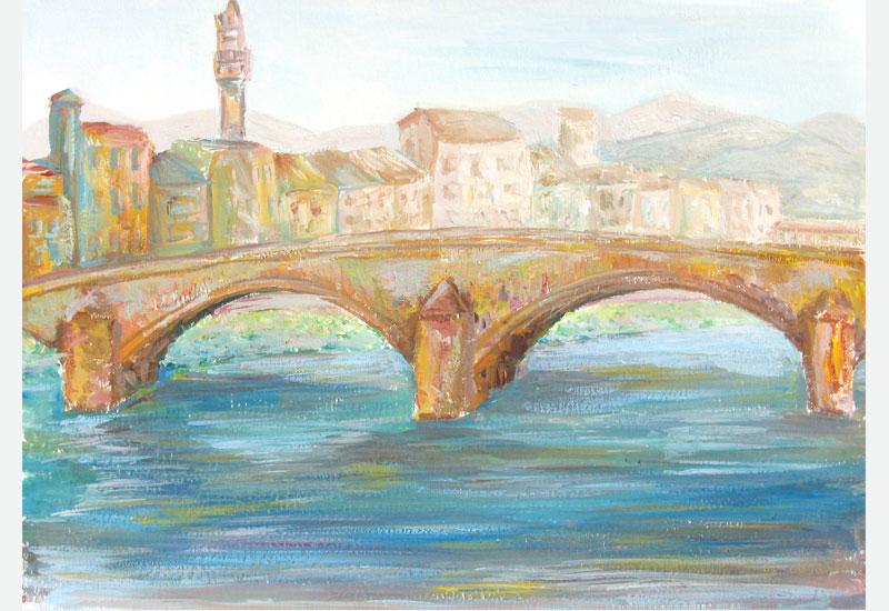 Ponte Santa Trinita, Florence painting
